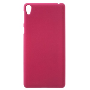 Matte Quicksand PC Hard Back Case for Sony Xperia E5 - Rose