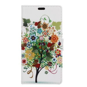Leather Card Holder Case for Sony Xperia XZ - Colorized Tree