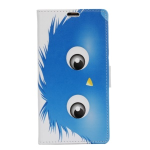 Wallet Leather Stand Cover for Sony Xperia XZ - Blue Hairy Doll
