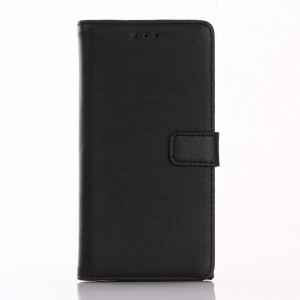 Retro Crazy Horse Leather Wallet Stand Case for Sony Xperia XZ - Black