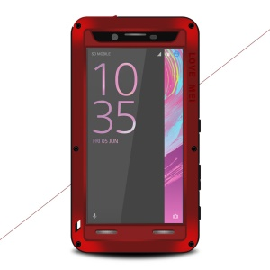 LOVE MEI Shockproof Dropproof Dustproof Cover Protector for Sony Xperia X Performance - Red