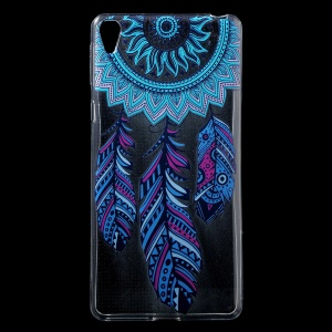 Patterned IMD Gel TPU Cover for Sony Xperia E5 - Tribal Dream Catcher