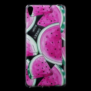 Patterned IMD TPU Back Shell Case for Sony Xperia E5 - Watermelon