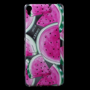 Patterned IMD Soft TPU Back Phone Cover for Sony Xperia XA / XA Dual - Watermelon Pattern