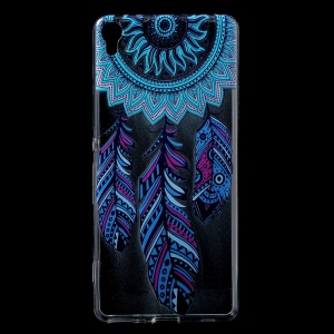 Patterned IMD Soft TPU Case for Sony Xperia XA / XA Dual - Feather Dream Catcher