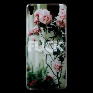 Patterned IMD Flexible TPU Protective Case for Sony Xperia XA / XA Dual - Blooming Flowers