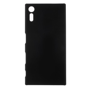 For Sony Xperia XZ Rubberized Back Plastic Cover - Black
