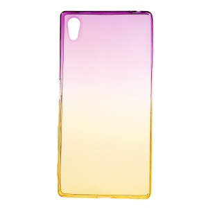 Gradient Color TPU Case for Sony Xperia Z5 / Z5 Dual - Purple / Yellow