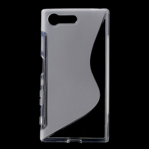 S Shape Gel TPU Back Case Cover for Sony Xperia X Compact - Transparent