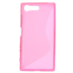 S Shape Gel TPU Shell Cover for Sony Xperia X Compact - Rose