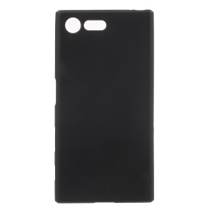 Matte Anti-fingerprint TPU Case Cover for Sony Xperia X Compact - Black