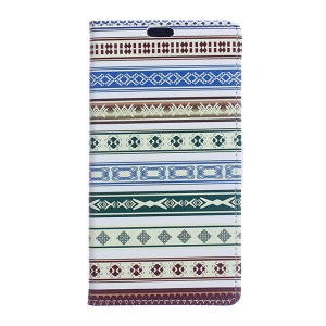 Patterned Leather Case with Card Slots for Sony Xperia X Compact - Ethnic Style Pattern