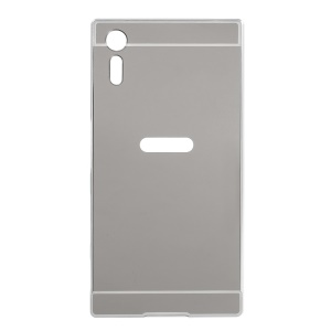 Metal Frame Slide-on Plating PC Back Phone Casing for Sony Xperia XZs / XZ - Silver