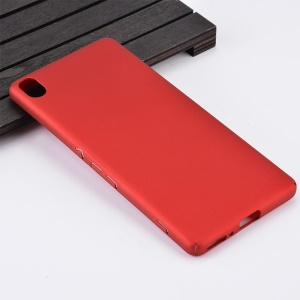 Wrapped Edges Rubber Coating PC Back Case for Sony Xperia XA / XA dual - Red