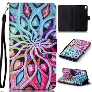 Patterned Leather Wallet Magnetic Flip Case for Sony Xperia XA / XA Dual - Fairy and Butterflies