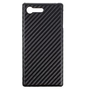 Carbon Fiber PU Leather Coated Hard Back Case for Sony Xperia X Compact - Black