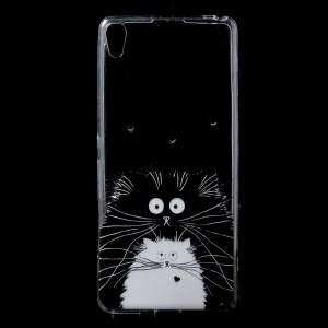Patterned Clear TPU Cell Phone Case Accessory for Sony Xperia XA / XA Dual - Lovely Animals