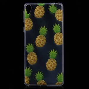 Patterned Ultra-thin Soft TPU Protector Cover for Sony Xperia E5 - Pineapples