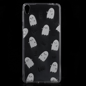 For Sony Xperia E5 Pattern Printing Ultra-thin Clear TPU Phone Accessory Case  - Cute Cartoon Images