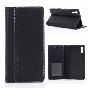 For Sony Xperia XZ  Retro Style Wallet Leather Mobile Phone Case - Black
