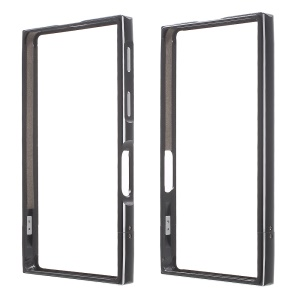 Screw Lock Aluminium Alloy Bumper for Sony Xperia X Compact - Black