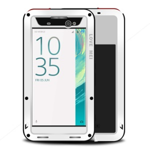LOVE MEI Powerful Shockproof Drop-proof Dust-proof Cover for Sony Xperia XA Ultra - White