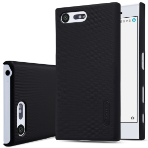NILLKIN Super Frosted Shield Hard Case for Sony Xperia X Compact + Screen Protector - Black