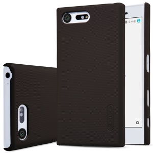 NILLKIN Super Frosted Shield PC Phone Cover for Sony Xperia X Compact + Screen Protector - Brown