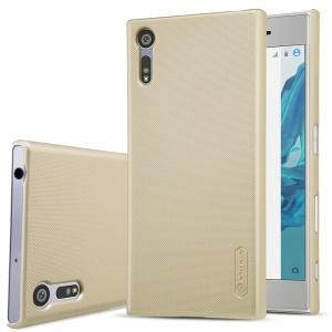 NILLKIN for Sony Xperia XZ Super Frosted Shield PC Phone Casing + Screen Protector - Gold
