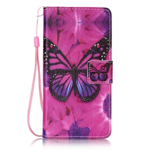 Patterned Leather Case for Sony Xperia X Performance - Beautiful Butterfly and Flower