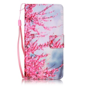 Leather Card Slots Patterned Case for Sony Xperia X Performance - Wintersweet Flowers