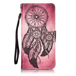 Pattern Printing Leather Cover with Hand Strap for Sony Xperia X Performance - Dream Catcher