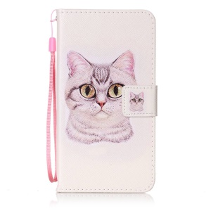 Wallet Leather Stand Case for Sony Xperia XZ - Adorable Cat