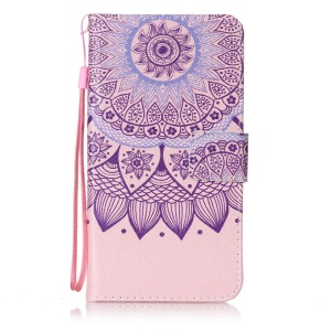 Wallet Leather Magnetic Case for Sony Xperia XZ - Mandala Flowers