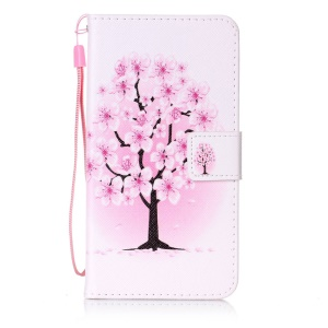 Leather Wallet Case for Sony Xperia XZ - Peach Blossom