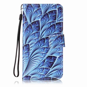 Leather Wallet Cover for Sony Xperia XZ - Colorized Pattern
