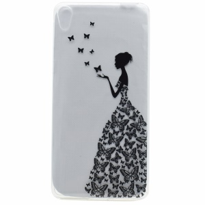 Pattern Printing TPU Cover Case for Sony Xperia XA Ultra - Butterfly Girl