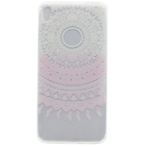 Pattern Printing TPU Shell for Sony Xperia XA Ultra - Pink Flower