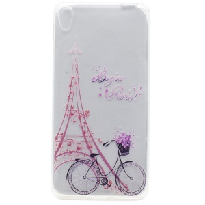 Pattern Printing TPU Case Shell for Sony Xperia XA Ultra - Eiffel Tower and Bicycle