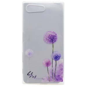 Pattern Printing TPU Cover Case for Sony Xperia X Compact - Dandelions Pattern
