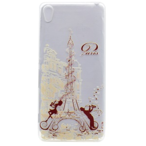 Patterned TPU Gel Case for Sony Xperia XA / XA dual - Paris Eiffel Tower