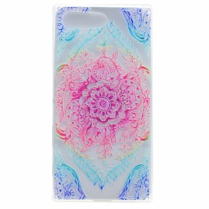 Pattern Printing TPU Case for Sony Xperia X Compact - Colorized Flower