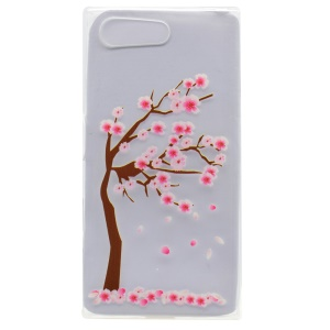 Pattern Printing TPU Cover Case for Sony Xperia X Compact - Tree with Flowers