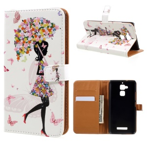 Wallet Leather Cover Case for Asus Zenfone 3 Max ZC520TL - Flowered Beauty
