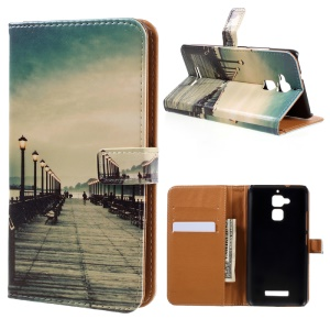 Leather Wallet Cover for Asus Zenfone 3 Max ZC520TL - Seaside Trestle