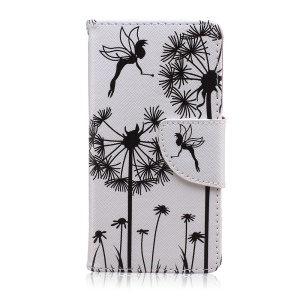 Printing Pattern Wallet Leather Case for Sony Xperia Z5 Compact - Dandelions and Fairy
