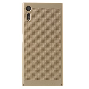 Hollow Mesh Heat Dissipation Hard Protective Cover for Sony Xperia XZs / XZ  - Gold