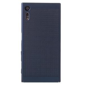Hollow Mesh Heat Dissipation Hard Protective Shell for Sony Xperia XZs / XZ  - Dark Blue