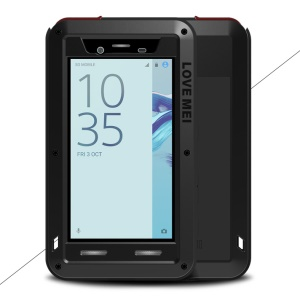 LOVE MEI Powerful Shockproof Drop-proof Dust-proof Mobile Case for Sony Xperia X Compact - Black