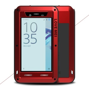 LOVE MEI Powerful Phone Case for Sony Xperia X Compact Shockproof Drop-proof Dust-proof - Red